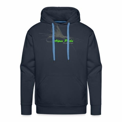 Alpes pêche - fly fishing - Sweat-shirt à capuche Premium pour hommes
