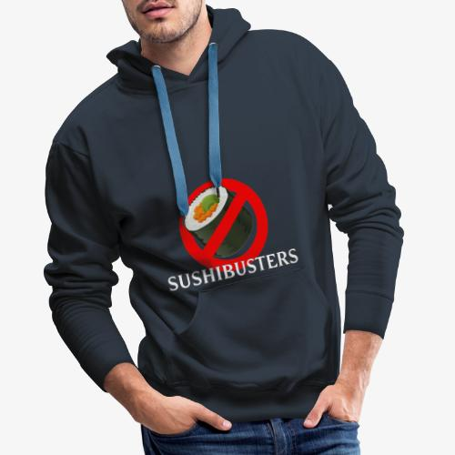 Sushibusters - Felpa con cappuccio premium da uomo