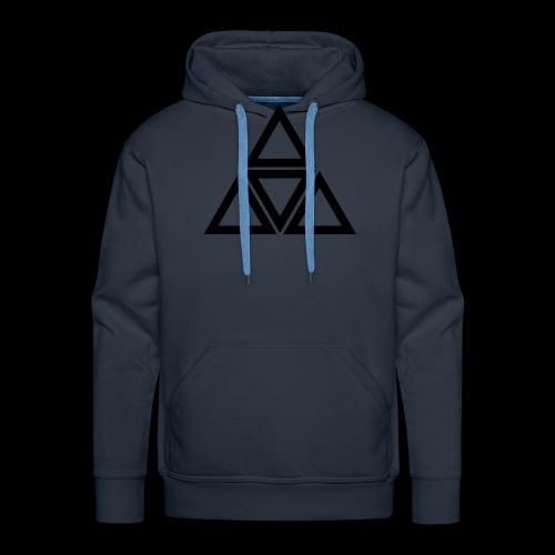 triangle - Felpa con cappuccio premium da uomo