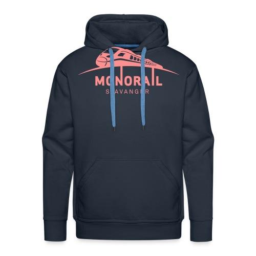 Monorail Hvit - Premium hettegenser for menn