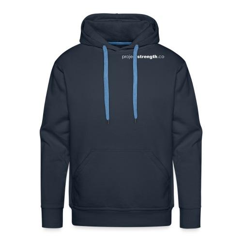projectstrength.co - plain logo - white - Men's Premium Hoodie