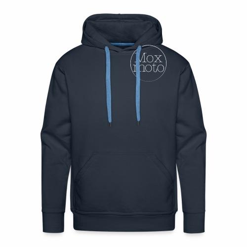 Moxi logo white - Männer Premium Hoodie