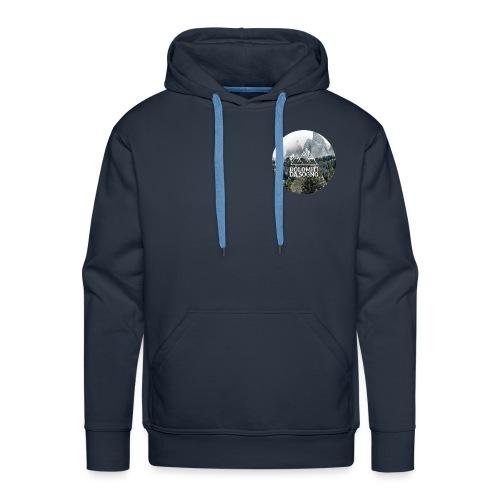 Dolomiti invernali - Felpa con cappuccio premium da uomo