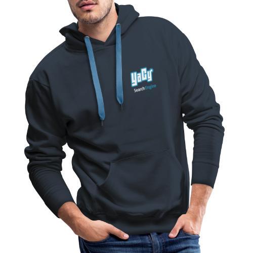 YaCy Logo breiter Schriftzug - Men's Premium Hoodie