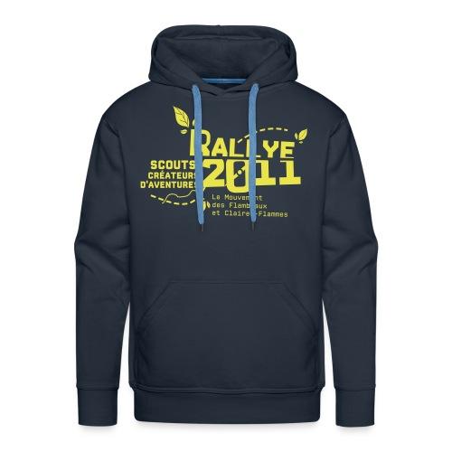 motif jaune - Sweat-shirt à capuche Premium pour hommes