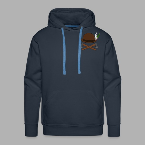 The Captain's axe - Sweat-shirt à capuche Premium pour hommes