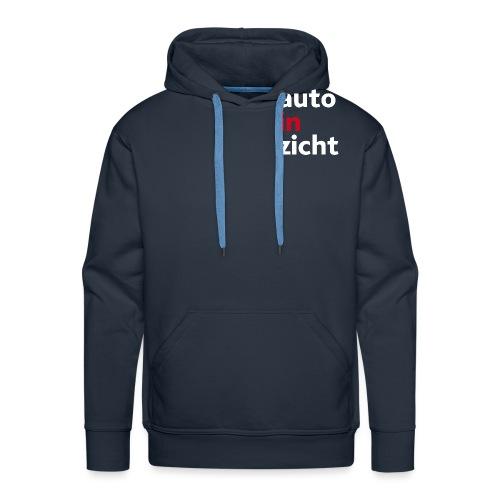 logo-wit-rood - Mannen Premium hoodie