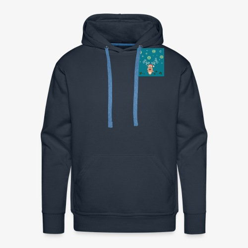 little deer blue background - Men's Premium Hoodie