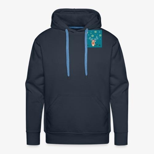 petit cerf fond bleu - Sweat-shirt à capuche Premium pour hommes