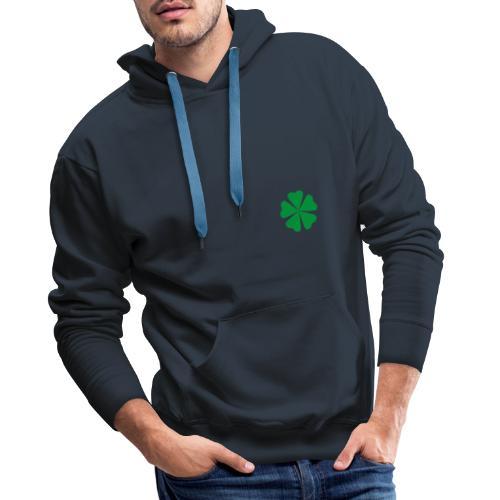 Trébol minimalista - Sudadera con capucha premium para hombre