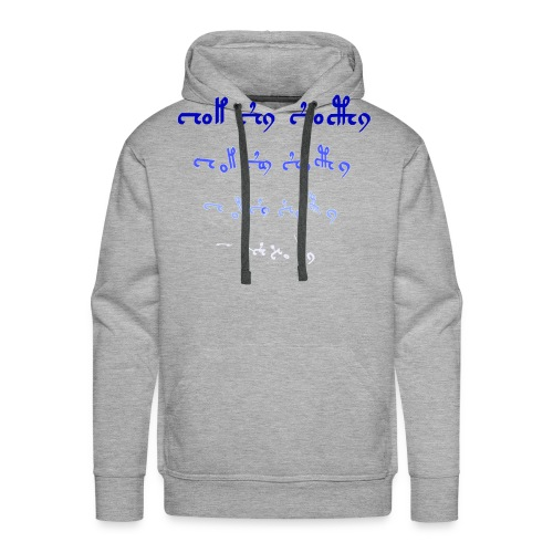 version1d_blau - Männer Premium Hoodie