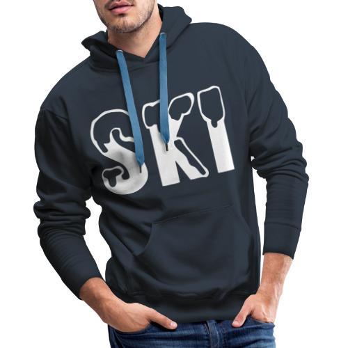 Cool ski snow design - Mannen Premium hoodie
