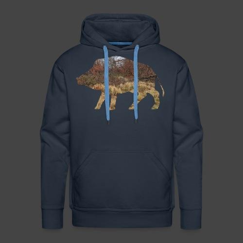 Wildsaudickungtapeten-Sau-Shirt für Jäger/innen - Männer Premium Hoodie