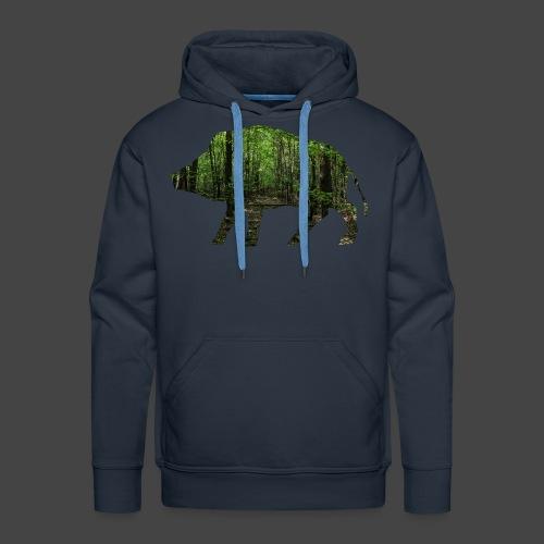 Waldtapeten-Sau-Shirt für Jäger/innen - Männer Premium Hoodie