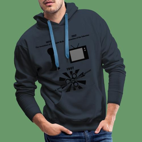 inventions over time - Men's Premium Hoodie