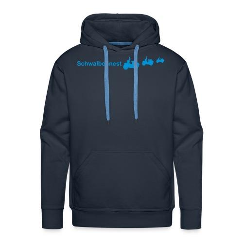 3 schwalben brust blau ai2 - Männer Premium Hoodie