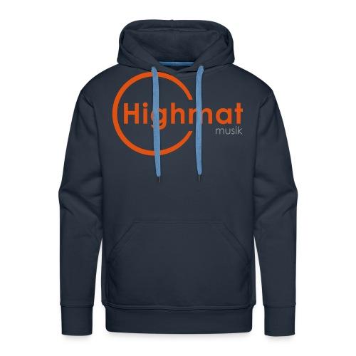 Logo_Highmat 006 - orange - Männer Premium Hoodie