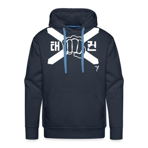 Scotland Taekwondo ITF fist and flag motif - Men's Premium Hoodie