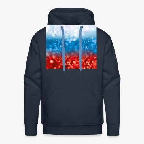 05 Russland Flagge Fahne Glitzer Russia - Männer Premium Hoodie