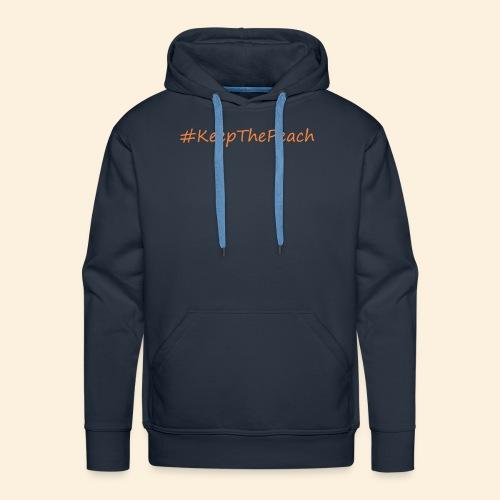 Hashtag KeepThePeach - Sweat-shirt à capuche Premium pour hommes