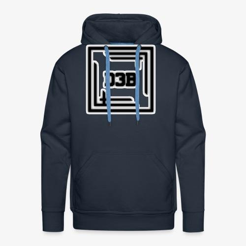 d3b black - Sweat-shirt à capuche Premium pour hommes