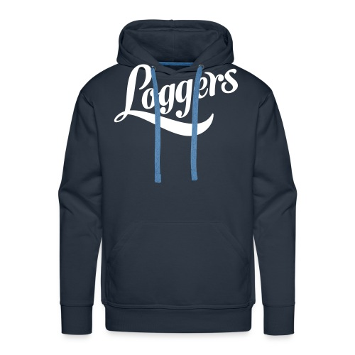 Loggers 1 color logo - Premium hettegenser for menn