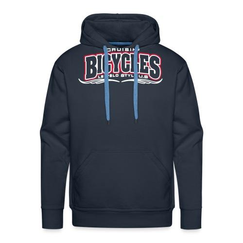 logo cruisin bicycles chris3 - Sweat-shirt à capuche Premium pour hommes