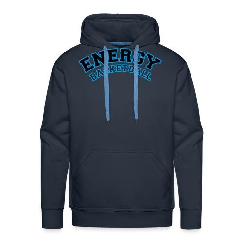 street wear logo nero energy basketball - Felpa con cappuccio premium da uomo