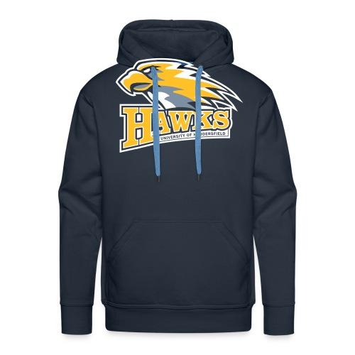 hawks main logo on blue - Men's Premium Hoodie