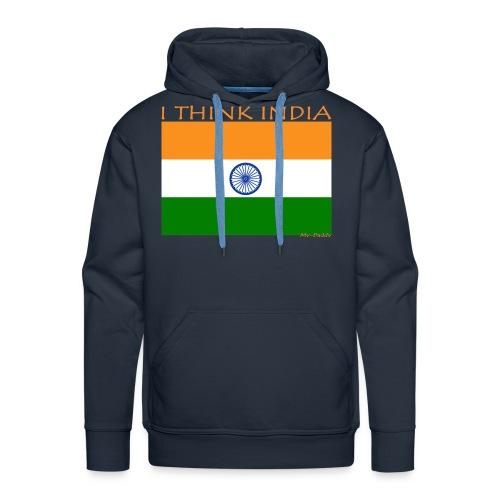 I THINK INDIA - Felpa con cappuccio premium da uomo