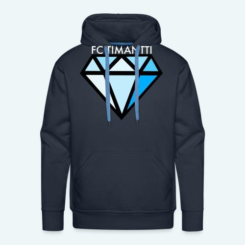 FCTimantti logo valkteksti futura - Miesten premium-huppari