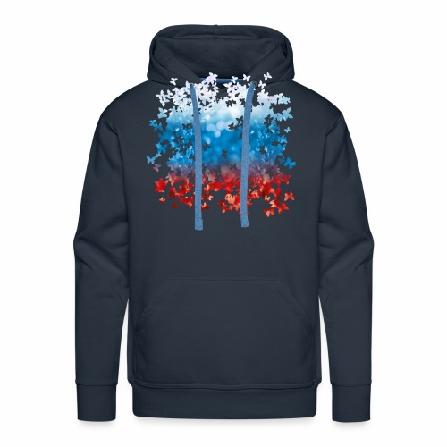 06 Russland Flagge Fahne Russia Schmetterlinge - Männer Premium Hoodie