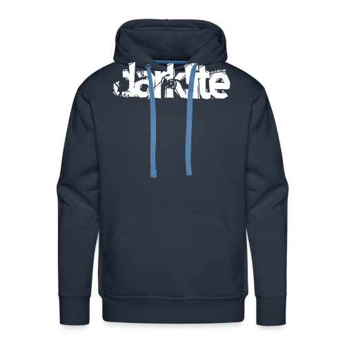 darklite logo white - Men's Premium Hoodie