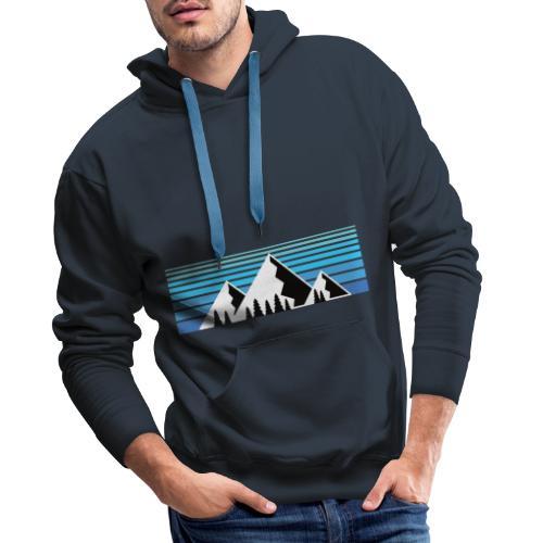 Berge im Sonnenaufgang Bergshirt & Natur Design - Männer Premium Hoodie