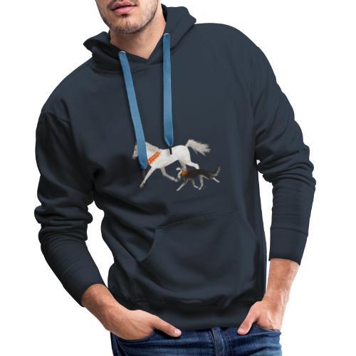 Saluki und Pferd - Männer Premium Hoodie