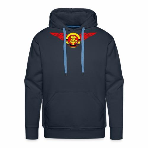 GDR flames crest 3c - Men's Premium Hoodie