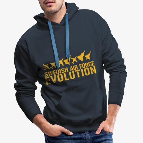 Swedish Air Force Evolution - Premiumluvtröja herr