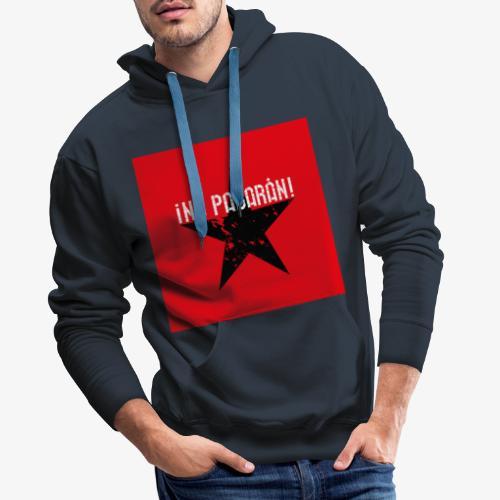02 No Pasaran Stern Maske Mundschutz rot schwarz - Männer Premium Hoodie