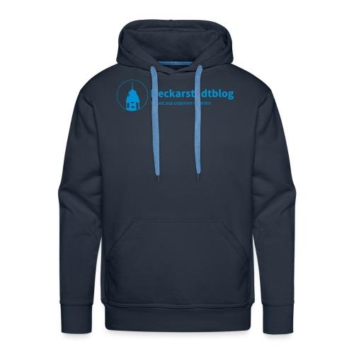Neckarstadtblog Logo & Claim - Männer Premium Hoodie