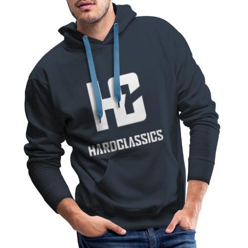 HC tekst logo - Mannen Premium hoodie