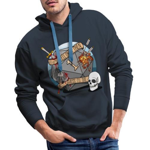 Devine je meurs - Donjons et dragons du MDN D & D - Sweat-shirt à capuche Premium pour hommes