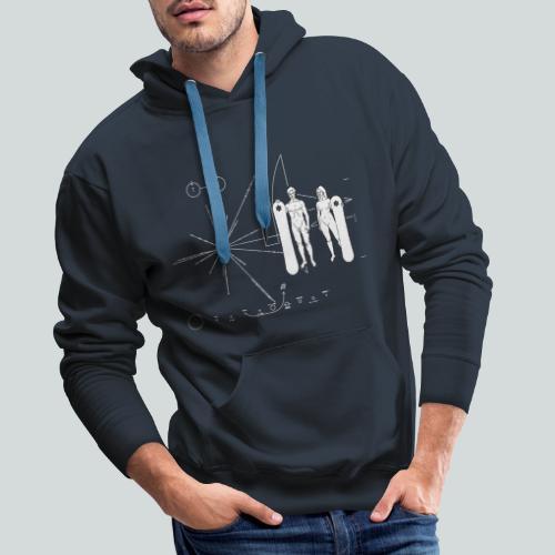 Snowboard Pioneer Plaque - Sweat-shirt à capuche Premium pour hommes
