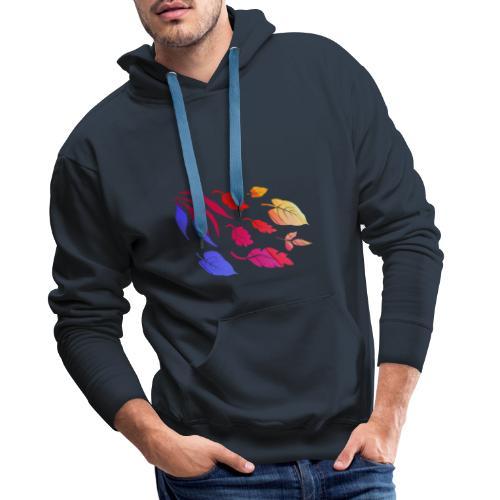 Natur Blätter Regenbogen - Männer Premium Hoodie