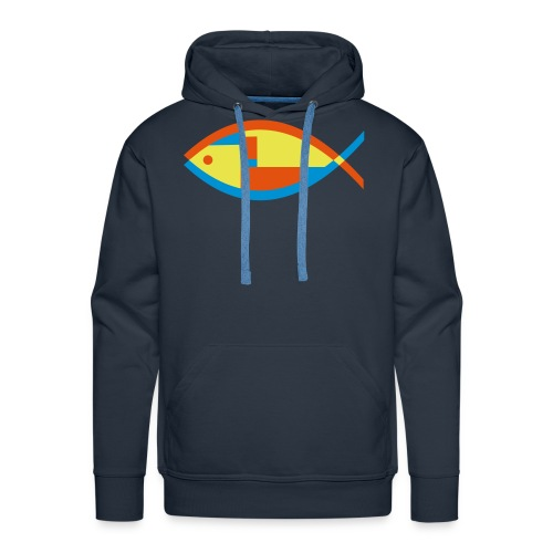 Colorful Abstract Fish - Men's Premium Hoodie