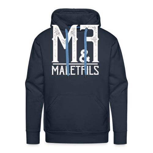 maletfils_logo_type_oldty - Sweat-shirt à capuche Premium pour hommes