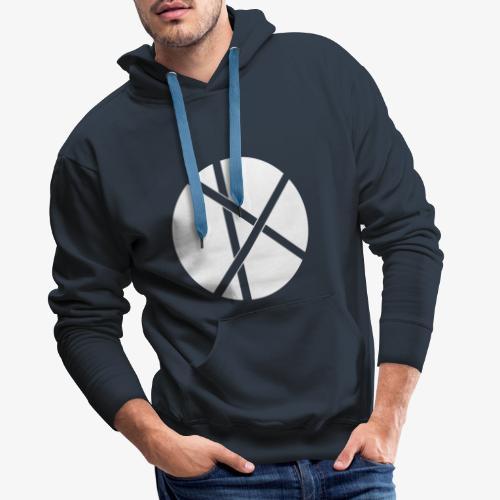Don Logo - valkoinen - Miesten premium-huppari