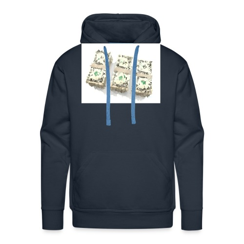 triangulated image png - Männer Premium Hoodie