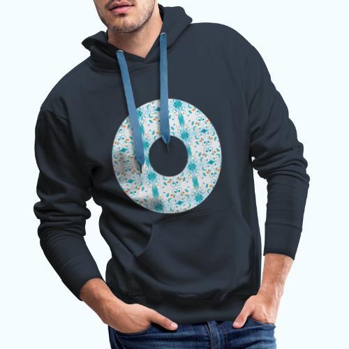 Hippie flowers donut - Men's Premium Hoodie