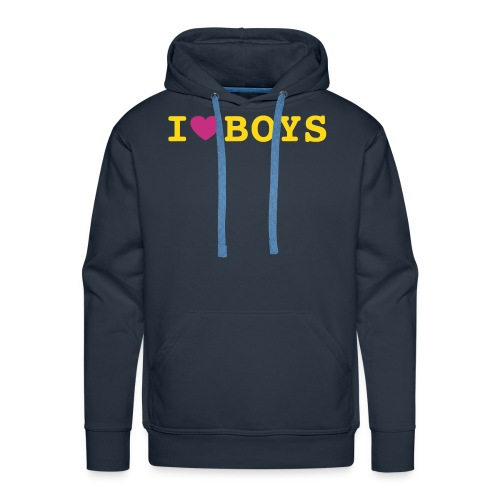 I love boys gay - Men's Premium Hoodie
