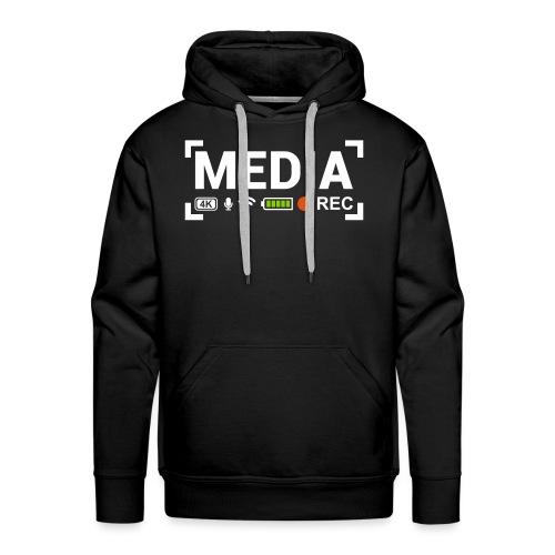MEDIA Crew - Felpa con cappuccio premium da uomo